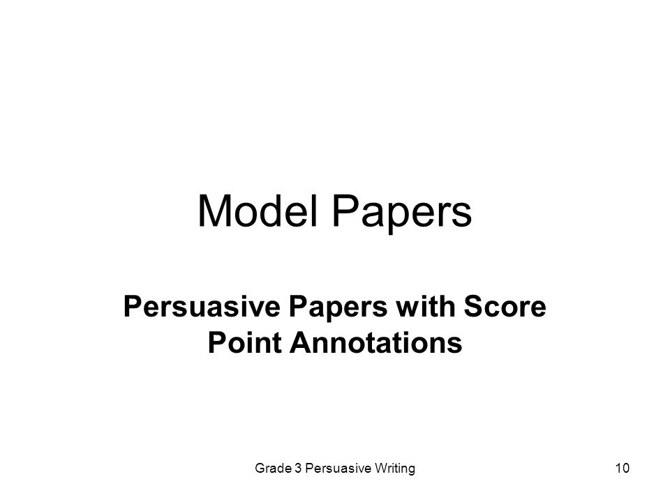 Persuasive Papers with Score Point Annotations
