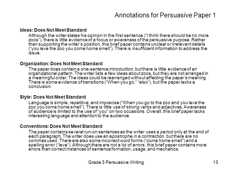 Annotations for Persuasive Paper 1
