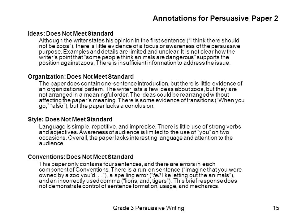 Annotations for Persuasive Paper 2
