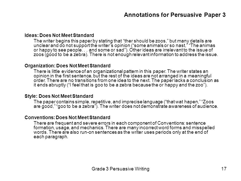Annotations for Persuasive Paper 3