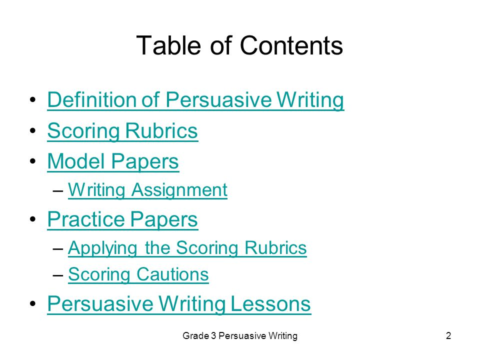persuasive writing for grade 2