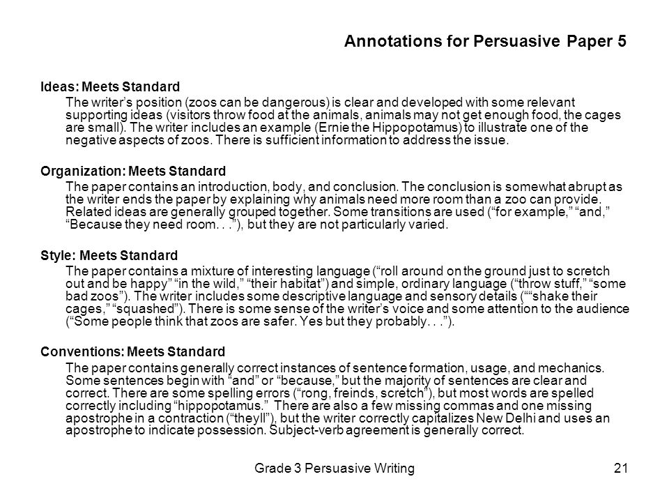 Annotations for Persuasive Paper 5