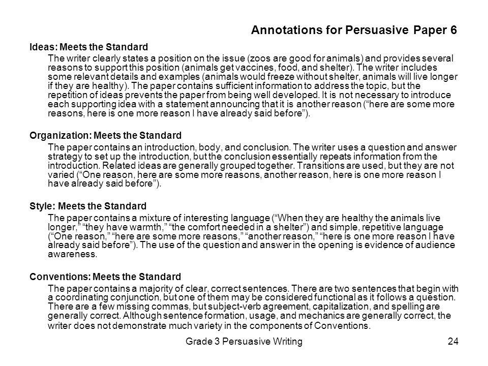 Annotations for Persuasive Paper 6