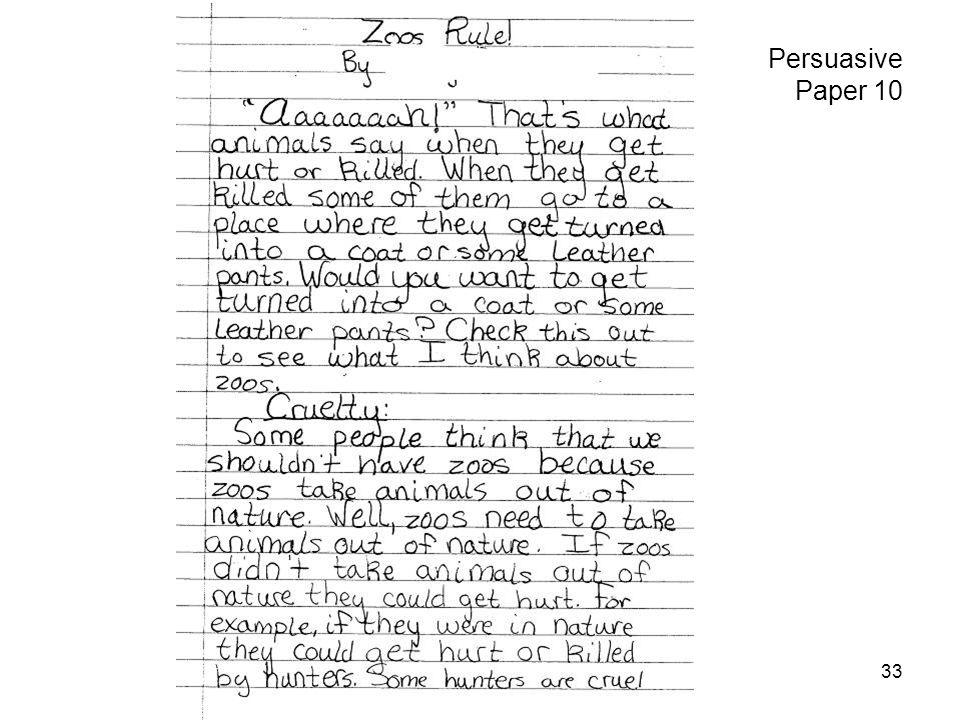 Grade 3 Persuasive Writing