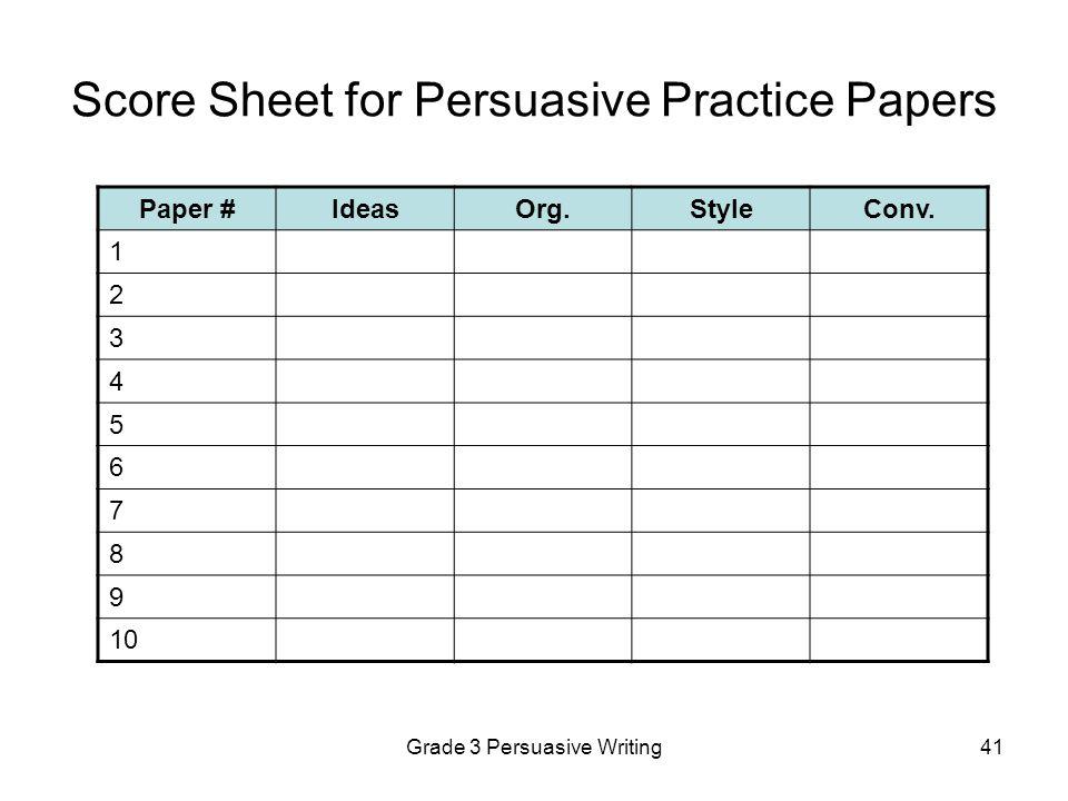 Tcap Writing Assessment Scoresheet