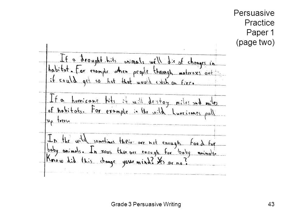 Persuasive Practice Paper 1 (page two)