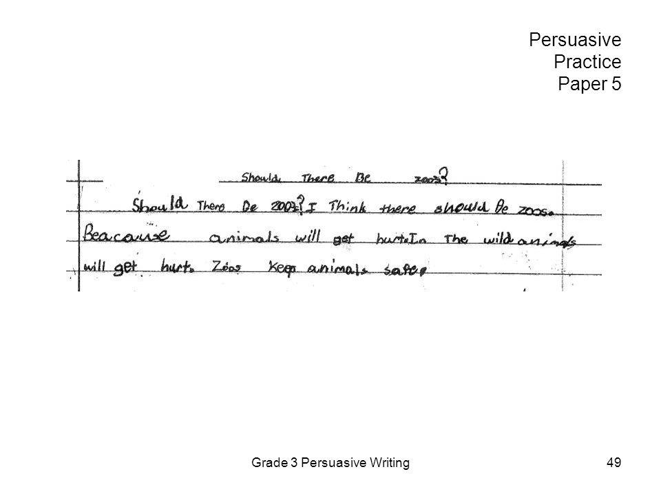 Persuasive Practice Paper 5