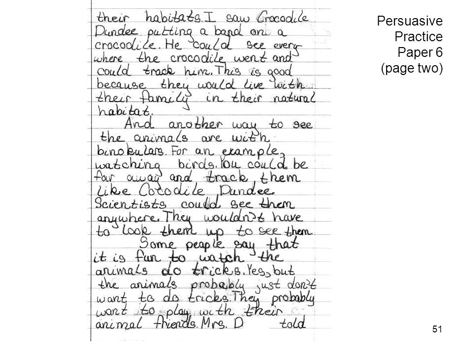 Persuasive Practice Paper 6 (page two)