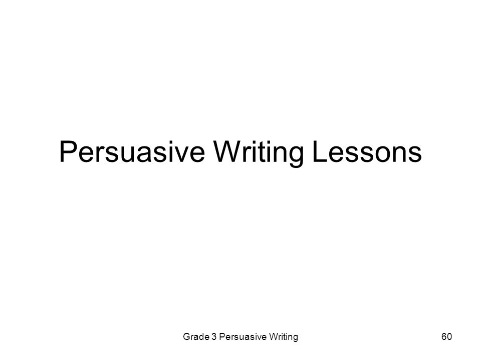 Persuasive Writing Lessons