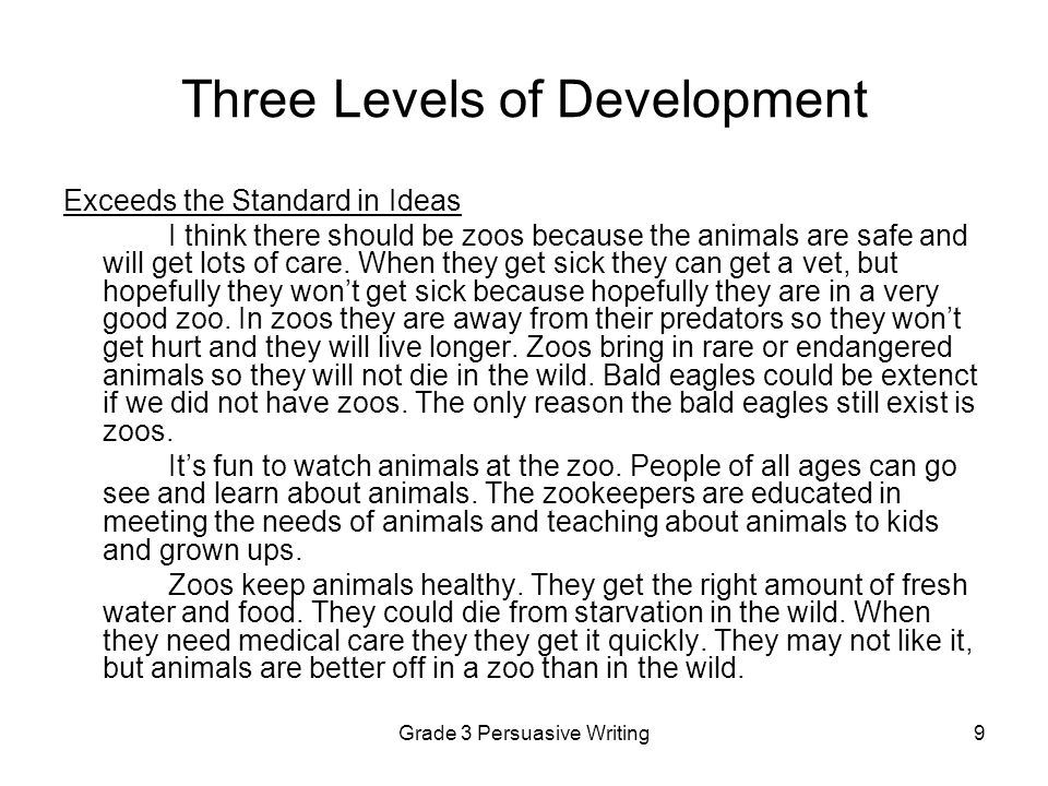 Three Levels of Development