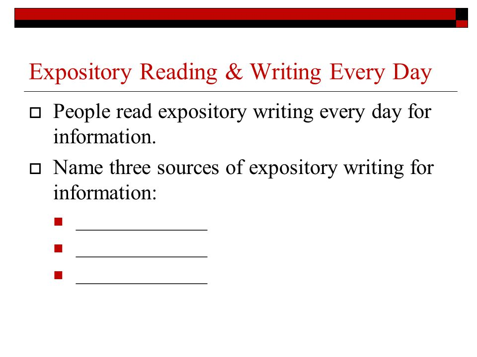 Expository Reading & Writing Every Day