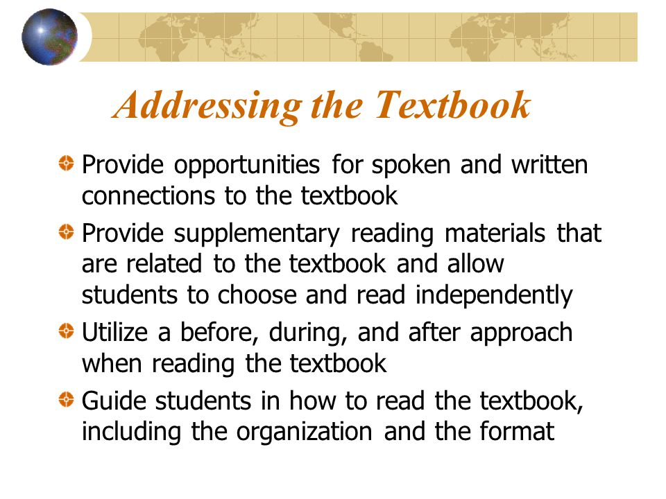 Addressing the Textbook