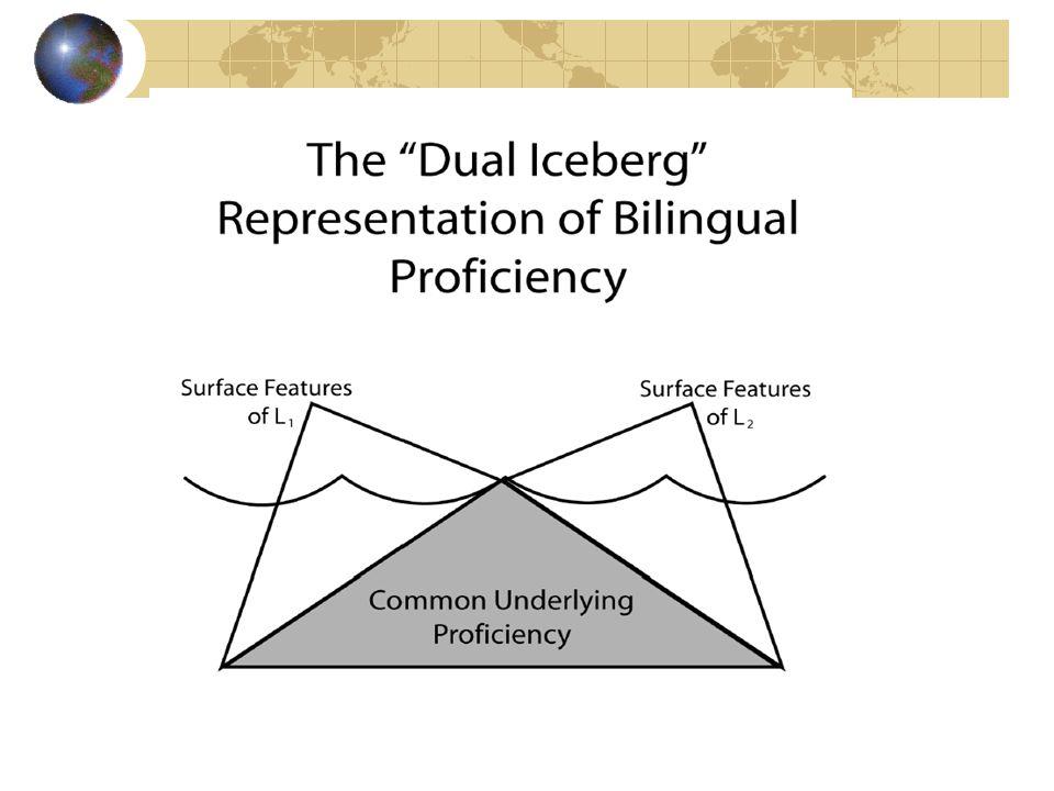 The Dual Iceberg Representation of Bilingual Proficiency