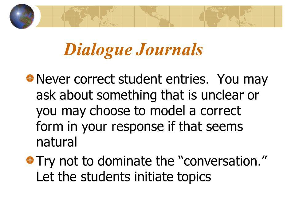 Dialogue Journals