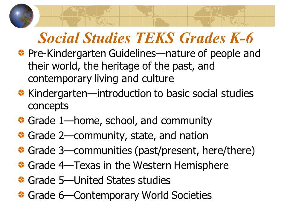 Social Studies TEKS Grades K-6