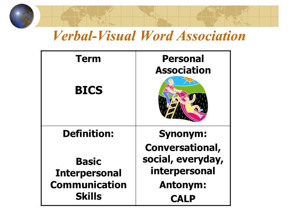 Verbal-Visual Word Association