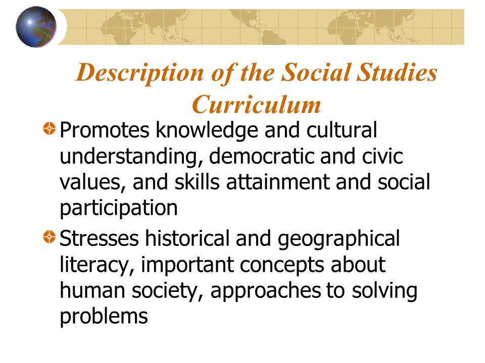 Description of the Social Studies Curriculum