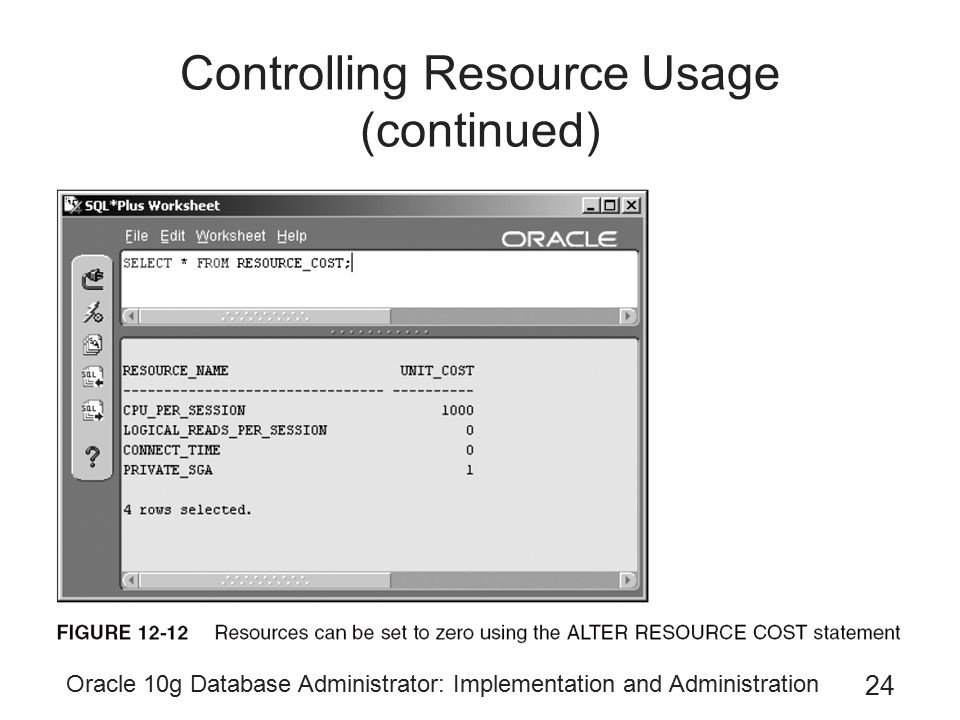 Controlling Resource Usage (continued)