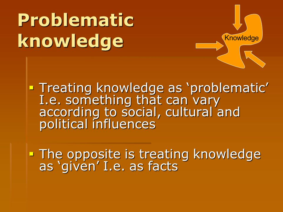 Problematic knowledge