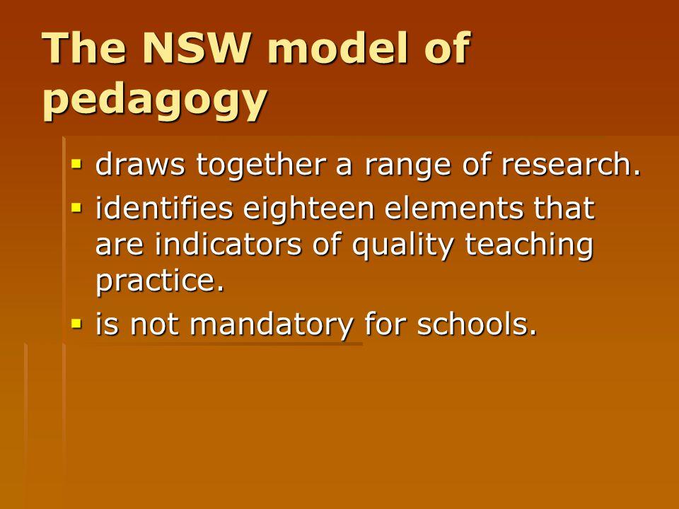 The NSW model of pedagogy