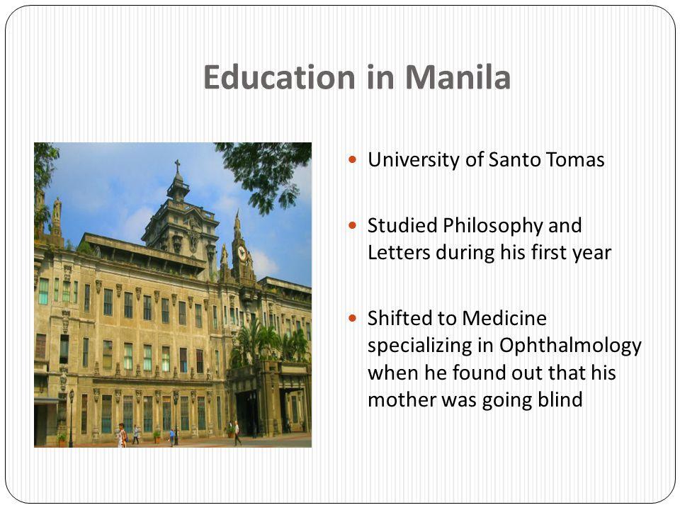 Education in Manila University of Santo Tomas