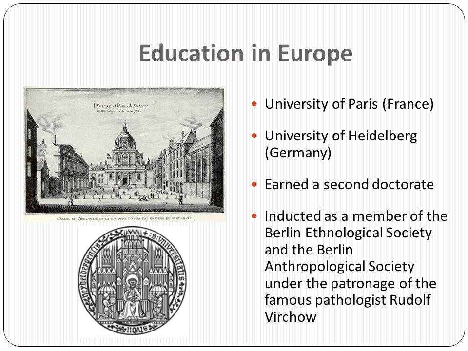 Education in Europe University of Paris (France)