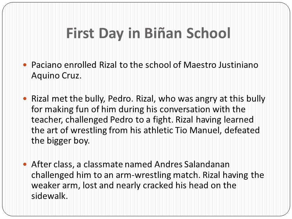 First Day in Biñan School
