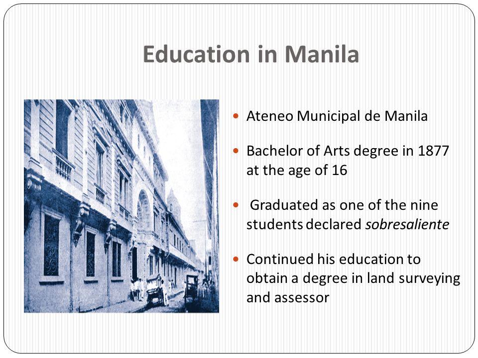 Education in Manila Ateneo Municipal de Manila