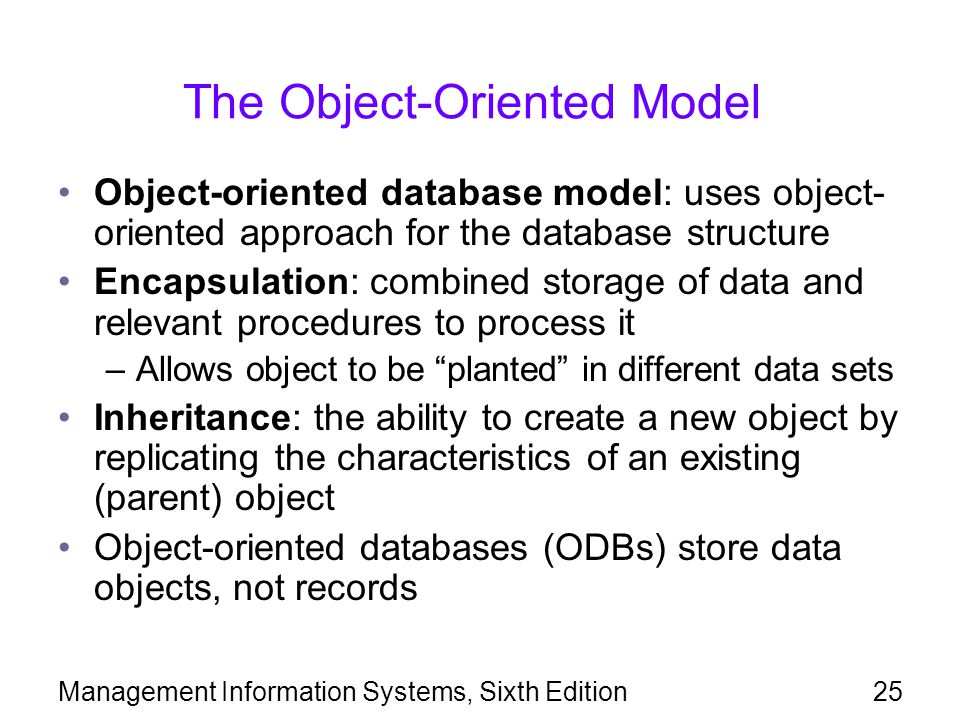 The Object-Oriented Model