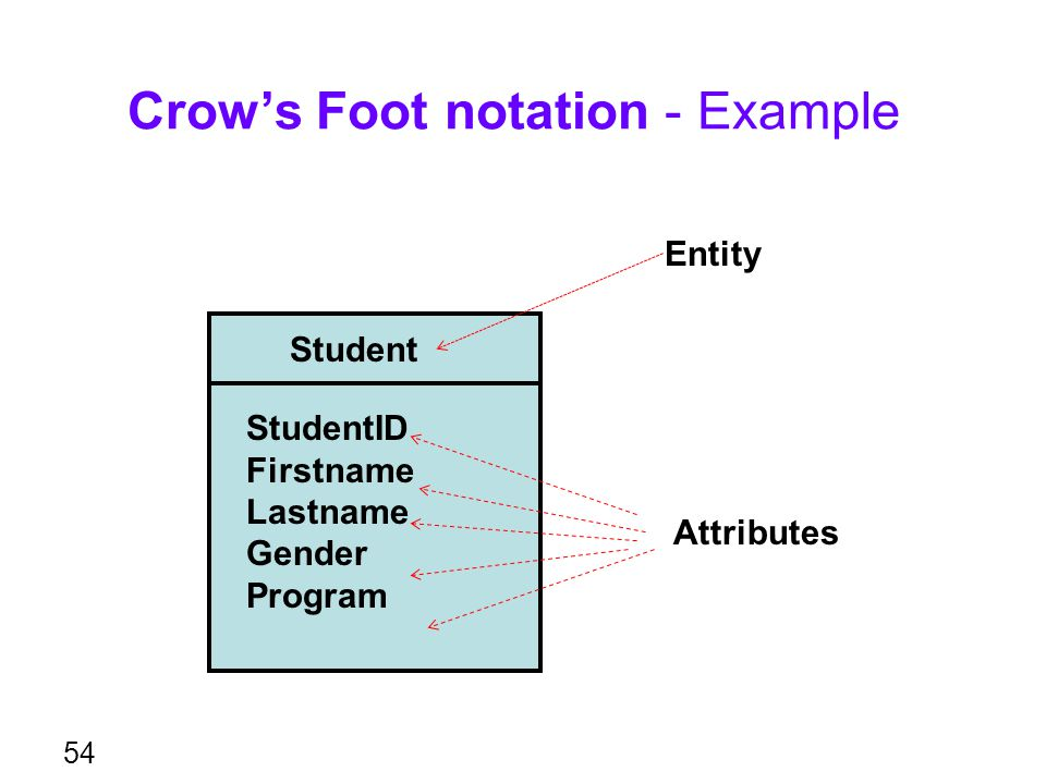Crow's Foot notation - Example