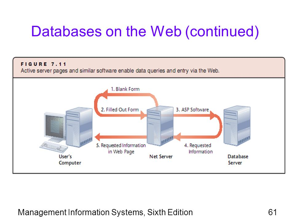 Databases on the Web (continued)