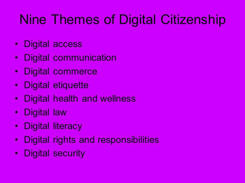 Nine Themes of Digital Citizenship
