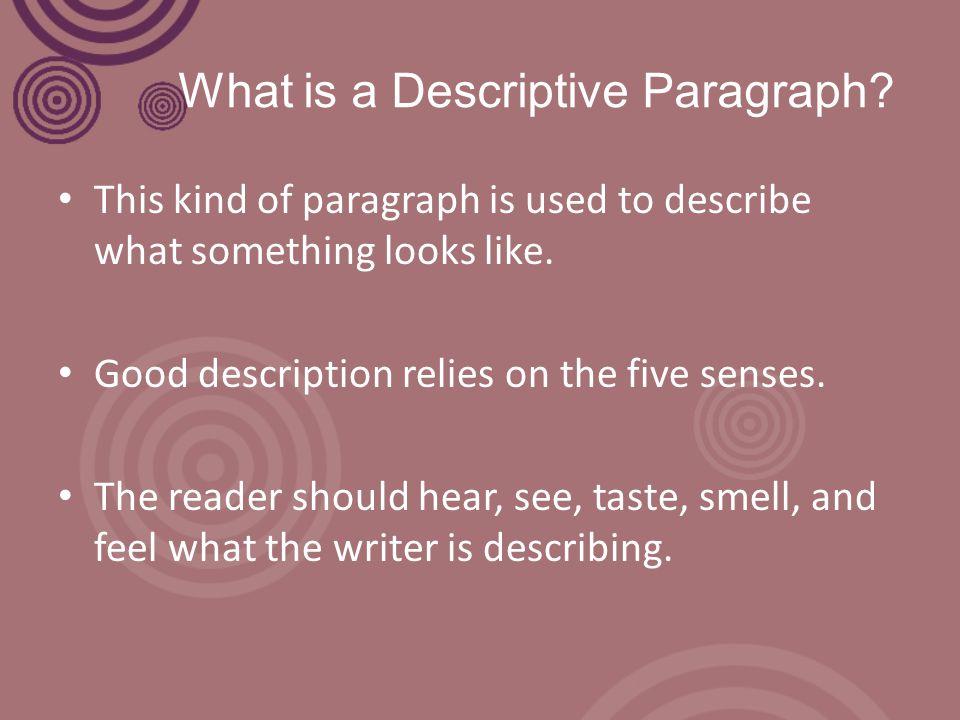What is a Descriptive Paragraph