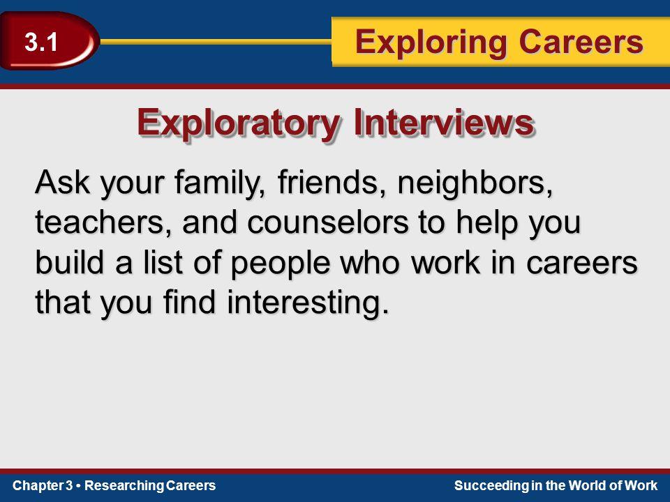 Exploratory Interviews
