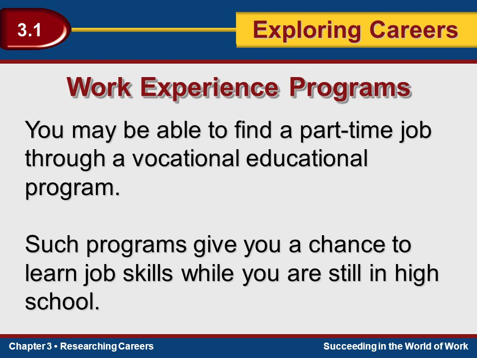 Work Experience Programs