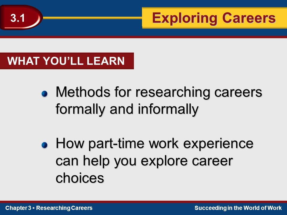 Methods for researching careers formally and informally