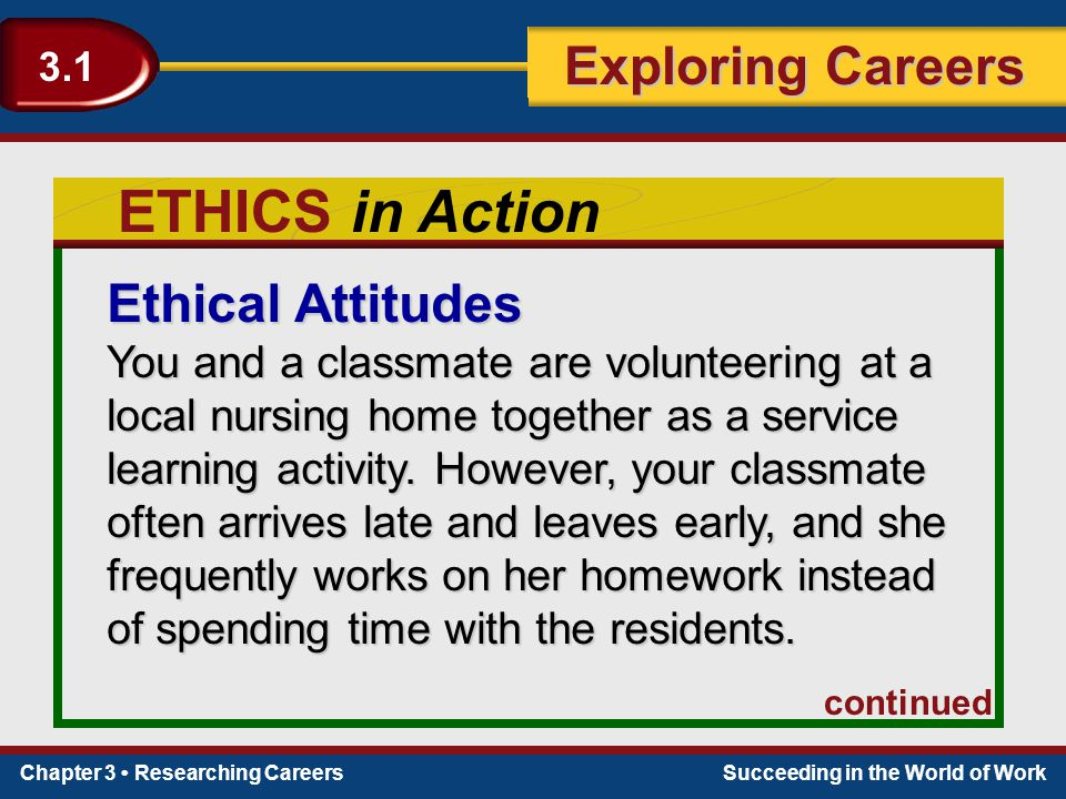 ETHICS in Action Ethical Attitudes
