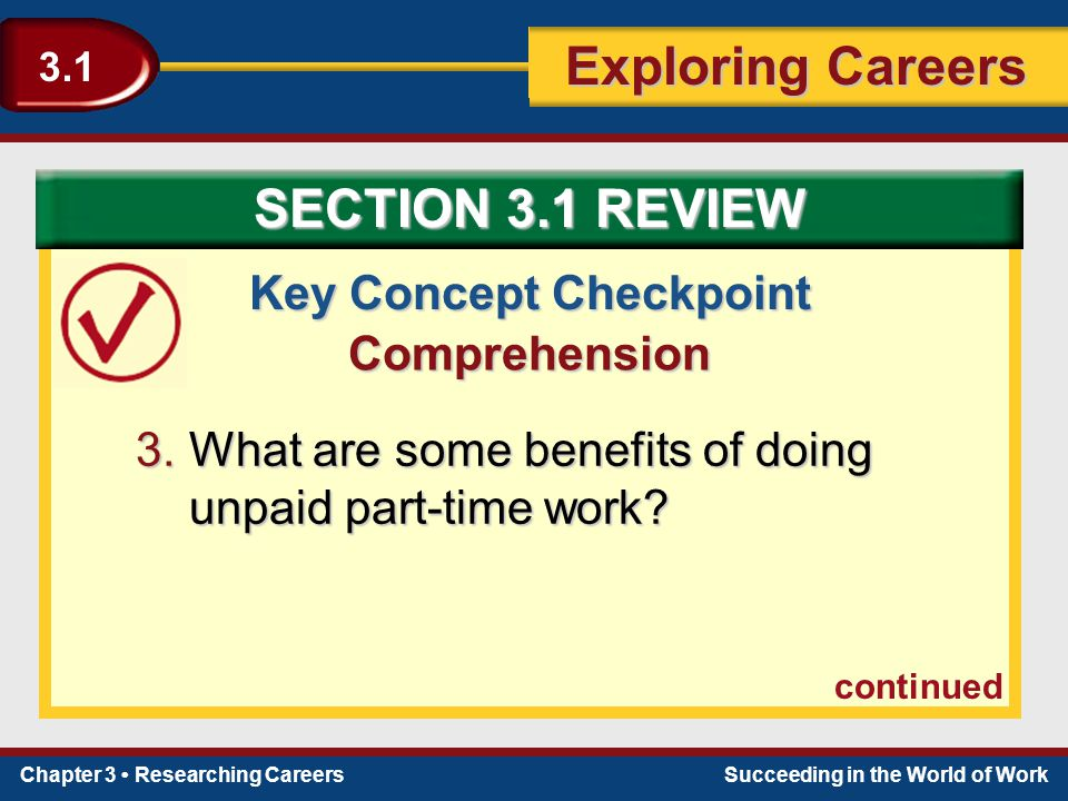 Key Concept Checkpoint