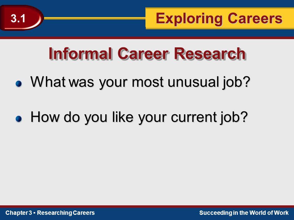 Informal Career Research