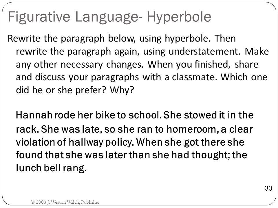 Figurative Language- Hyperbole