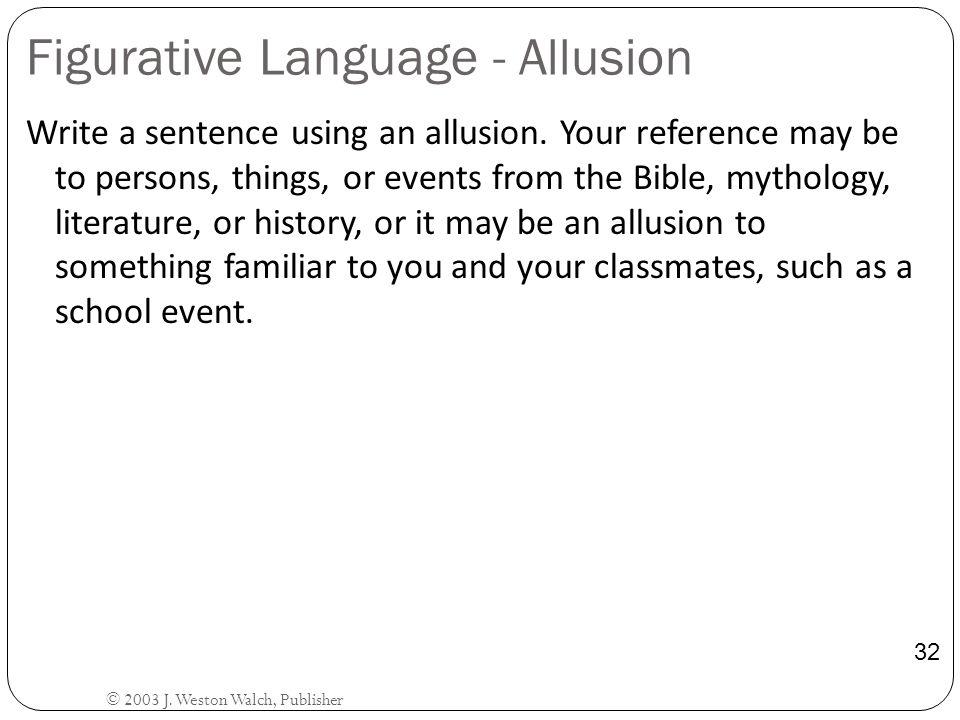 Figurative Language - Allusion