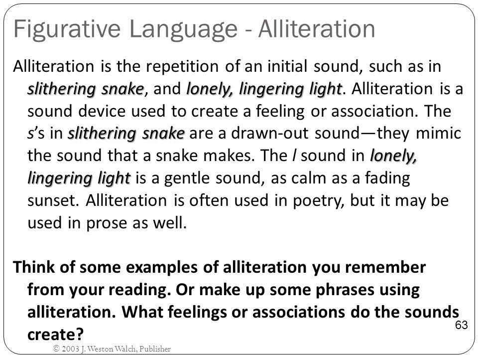 Figurative Language - Alliteration