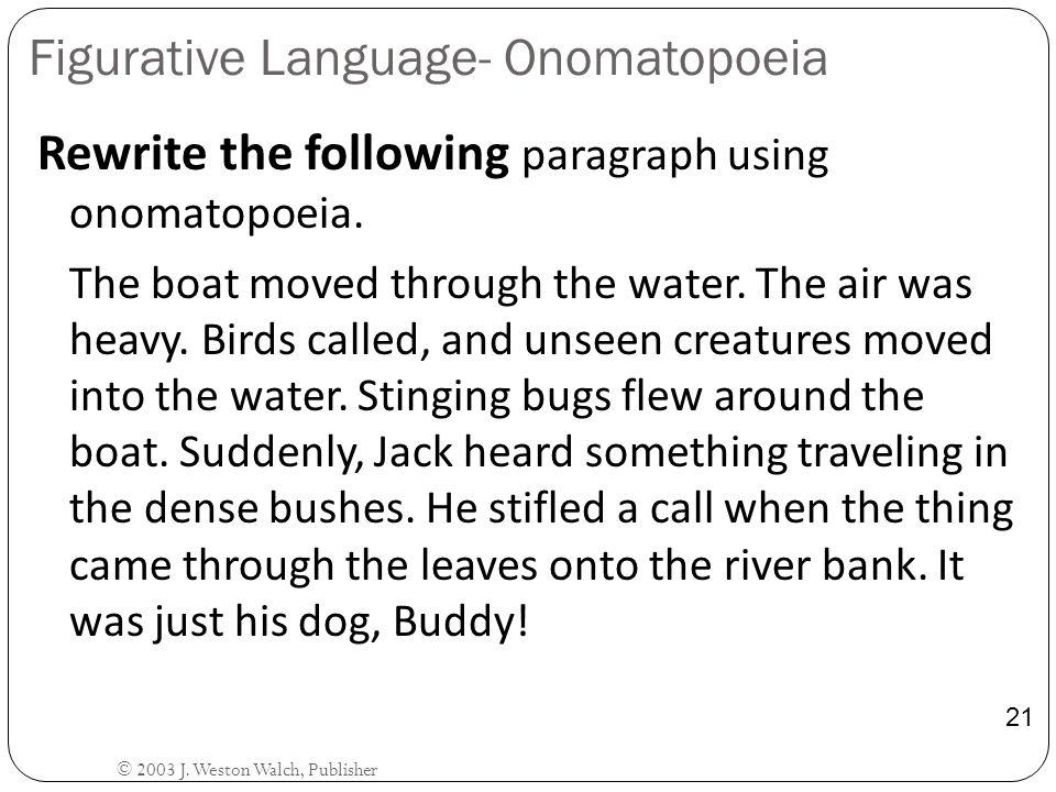 Figurative Language- Onomatopoeia