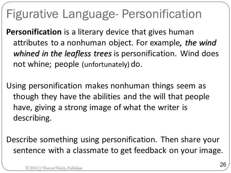 Figurative Language- Personification