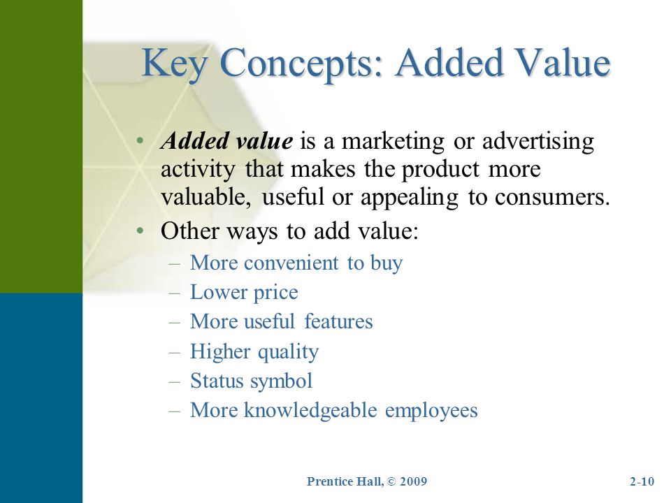 Key Concepts: Added Value
