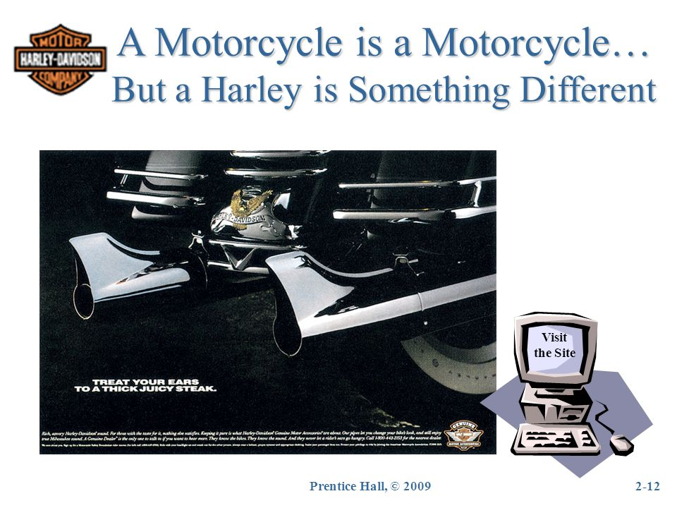 A Motorcycle is a Motorcycle… But a Harley is Something Different