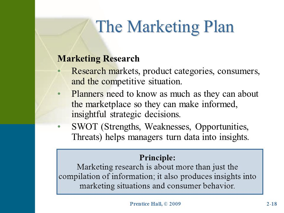 The Marketing Plan Marketing Research