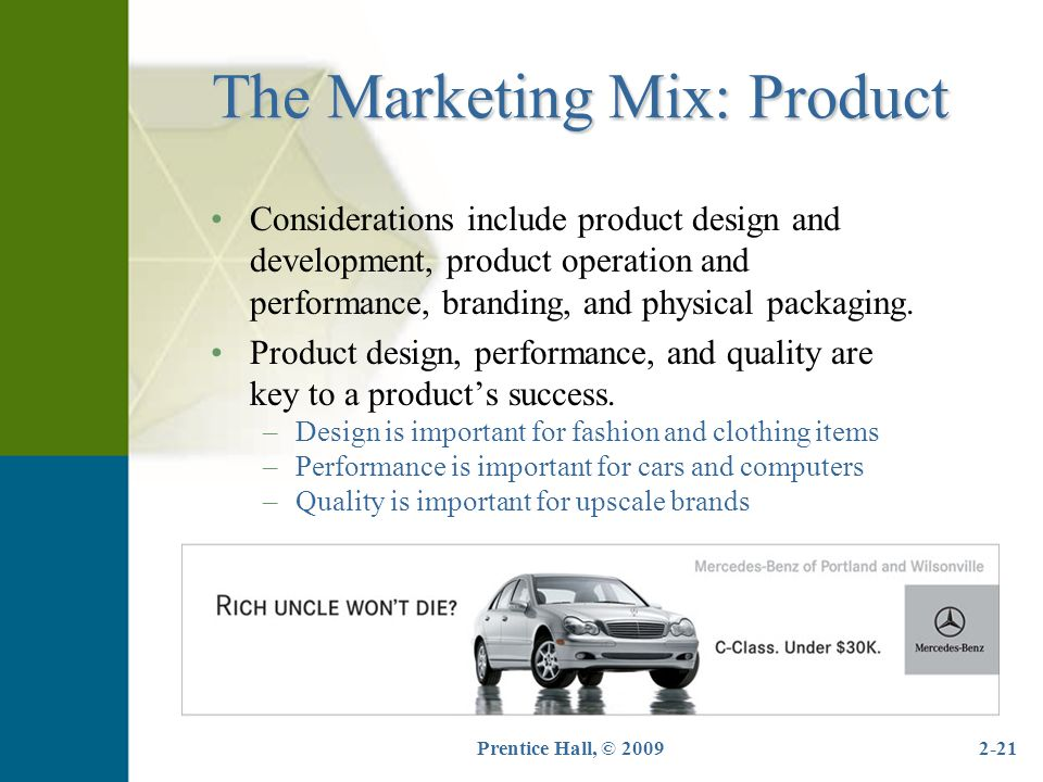The Marketing Mix: Product
