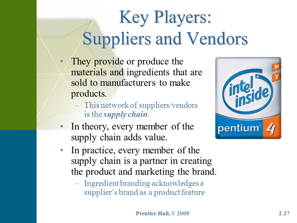Key Players: Suppliers and Vendors