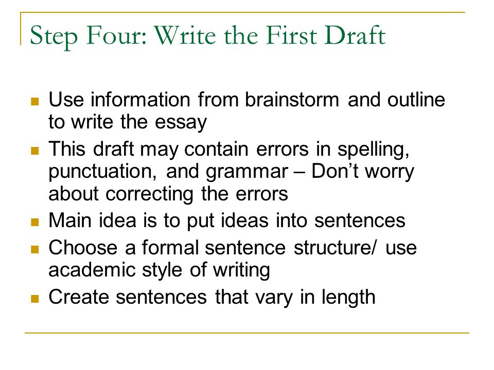 write process analysis essay steps